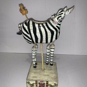 Zebra Candle Holder